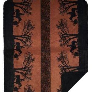 Sunset Cowboys Western Throw Blanket, 50 x 60
